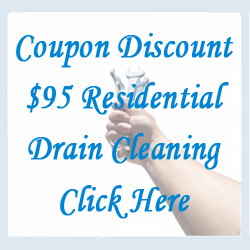 Coupon Discount $95 Residential Drain Cleaning
